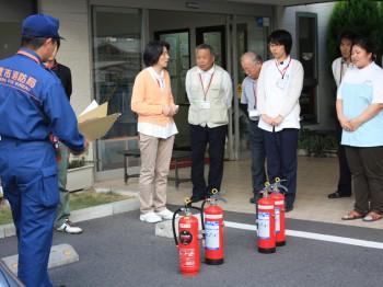 茶屋町火災訓練1